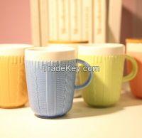 ceramic wool knit coat mug