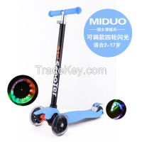 Swiss 21st Scooter children 3 wheel  kid scooter with flash wheel several colors