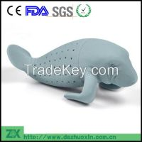 Wholesale silicone Manatee tea infuser