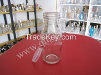 Glass milk Jars drink wine ware jam juice bottles