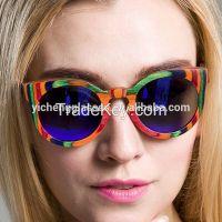 Custom colorful wood frame wayfarer wooden sunglasses polarized sunglasses