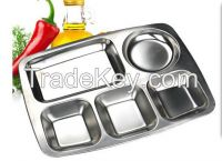 stainless steel blue plate