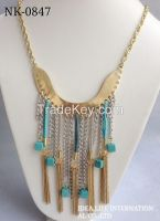 metal plating chain necklace