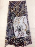 3D flower embroidery lace fabric