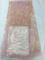Wholesale lace fabric, 3D emboridery lace fabric. African lace fabric.