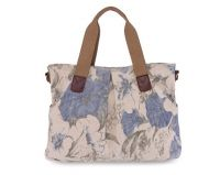 Canvas shoulder Handbag with Printing