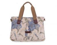 Canvas shoulder Handbag with Printing