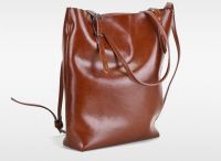 Retro Waxy Leather bucket Tote bags