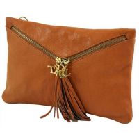 Genuine Leather clutch Handbag Wristlets