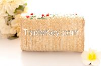 Summer Lady Small Chain Quilted Straw Shoulder Cross Body Bag