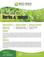 Peat soil for herbs and spices