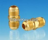 Flared union connector/ brass threaded machined/ quick connector