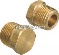 Hex Plug / machined threaded brass