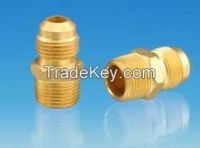 flared male Connector / machined threaded brass/ quick connector