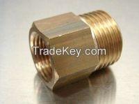 brass adapter / machined threaded brass
