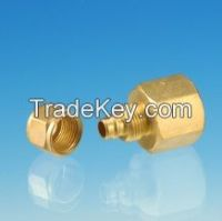 Brass female Connector / machined threaded brass/ quick connector