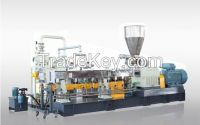 Recycled Plastic Bottle Flakes PET Granulating Machine with Twin Screw Extruder and Feeder
