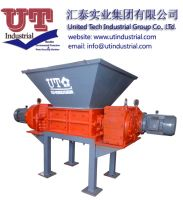 Multifuctional twin shaft shredder/ two shrears shredder/ recycled solid waste crusher machine shredder manufacturer