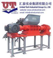 two rotors shredder / plastic scrap recycling machine / double shaft shredder / waste managment
