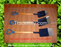 all types of steel shovel with wooden handle