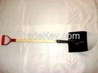 garden tools steel shovel with wooden handle
