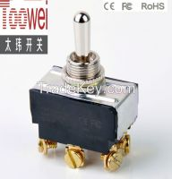 DPDT Toggle switch (ON)-OFF-(ON)  M12 10A 250V T6025W