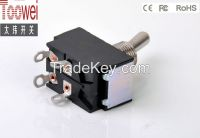 ON-OFF DPDT Toggle switch 10A 250V 12mm T6021U