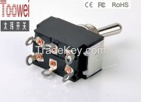ON-ON Toggle switch DPDT M12 10A 250V Rocker switches T6022U