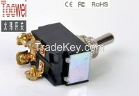 ON-OFF Toggle switch DPDT 12mm 10A 250V T6021W