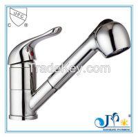 Kitchen faucet with zinc handle