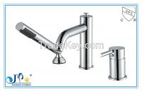 Bathtub faucet with ceramic cartridge and brass handle