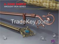 new designs iron curtain rod/pole with finials