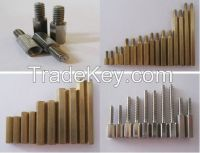 round metal female threaded pcb standoff/pc bolt /spacer/fastener