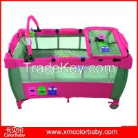 classic foldable baby playpen with beautiful printings BP607A