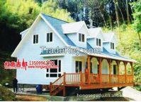 european wood house, log cabin