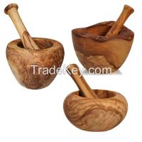 Olive Wood mortar