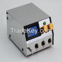 Hot Sale Digital Silver Tattoo Power Supply Pedal High Quality For Tattoo Machine Needle Grip Tubes Ink Kit
