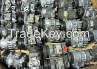 AC Compressor Used / Core - Sanden PXE Double 5 Groove