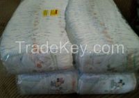 Grade A' B' C' Baby diapers in Bales count.