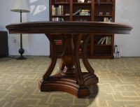 American country style accent wood dining room chairs Antique natural Color wooden Dining Table
