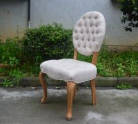 Hotel Furniture Used Louis Style Solid Wood Dining Room Chair Wooden Banquet Chairs
