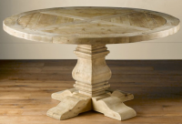 Lasted antique french style soild wood round coffee table design