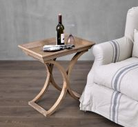 French Antique Finshing Restaurant Side Wooden Coffee Table, Reproduction Antique Chair used for hotel