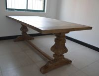 US country style solid wood vintage living room furniture dining table