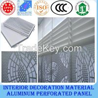Recycling building material/perforated aluminum panel for construction