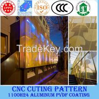 Aluminum exterior wall panel for building material