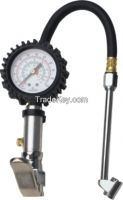 HJ13001 Dual Chuck Tire Inflator With Dial Gauge