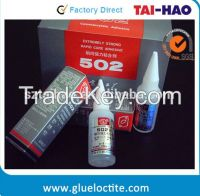 Professional free solvents 502 cyanoacrylate adhesive super glue