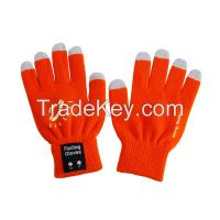 Fabric various colors Winter Outdoor Speaker Bluetooth Gloves with Touch Screen