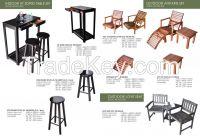 Hard wooden chair